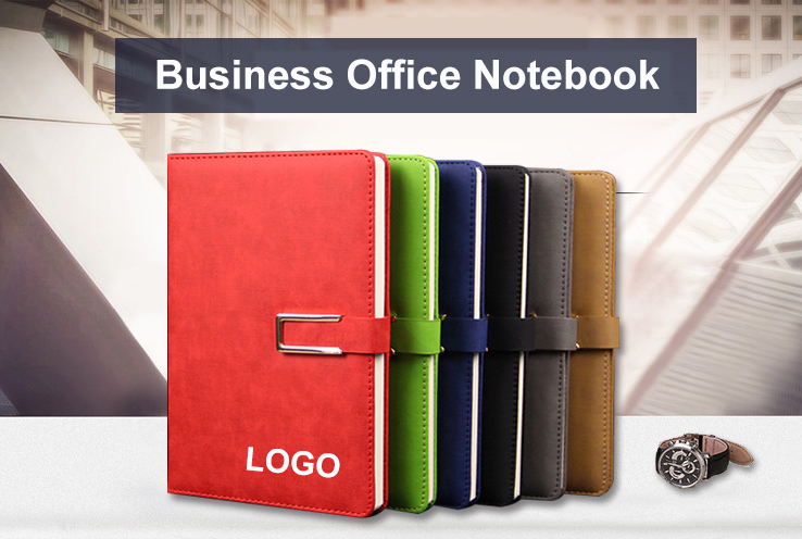 Custom A5 Size PU Leather Diary Paper Note Book With Logo Printing