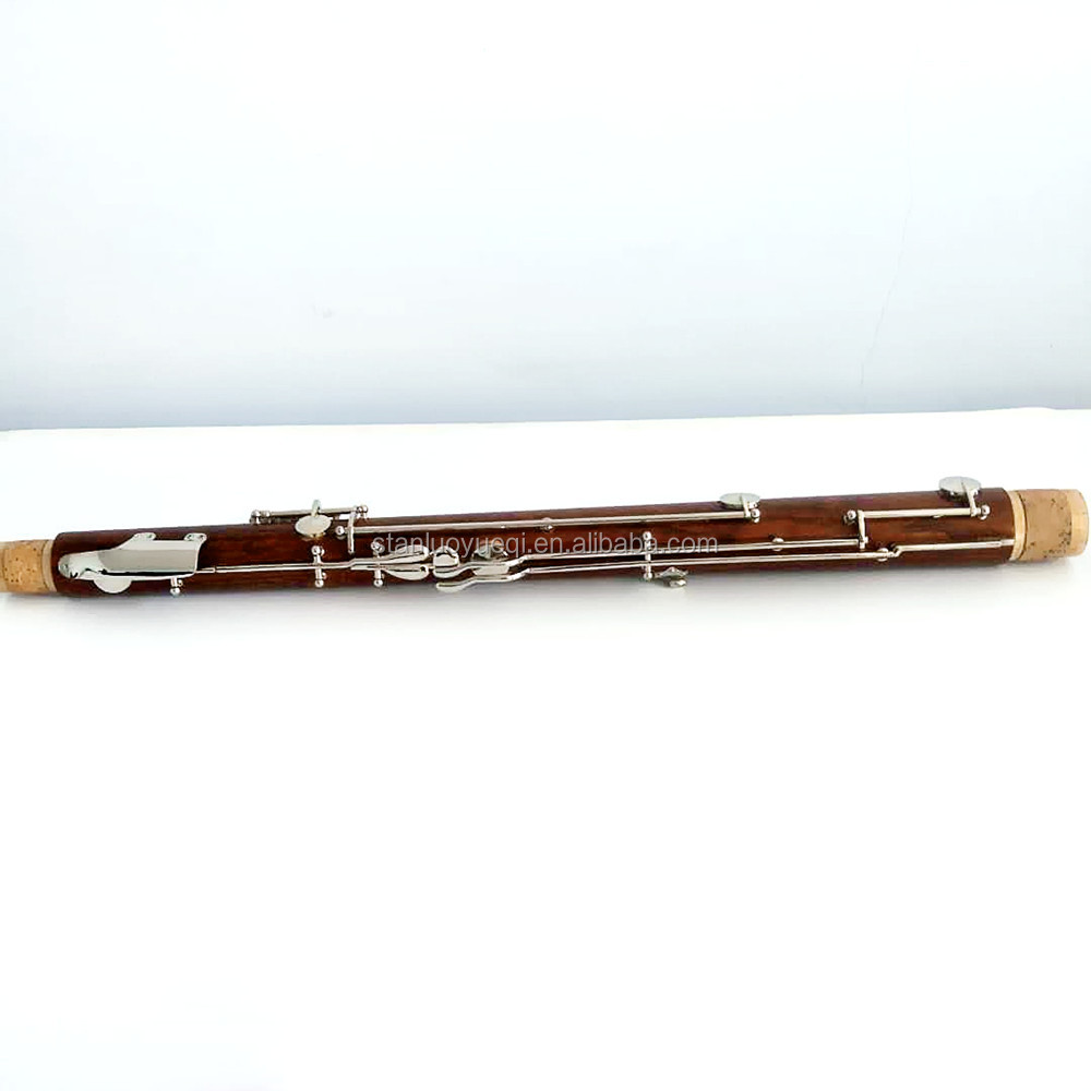 Nickel-coated maple wood bassoon for students