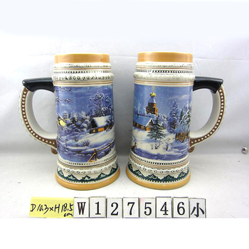 Custom design hand painted embossed german ceramic beer steins