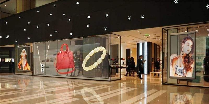 HD WIFI LED Control .d for indoor Advertising LED moving signs/advertising Dispaly transparent glass wall panel board