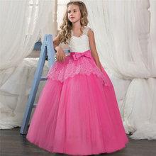 Новинка 2020 года, Открытое платье с цветочным рисунком на спине для девочек высококачественное свадебное платье с цветочным рисунком для ма...(China)