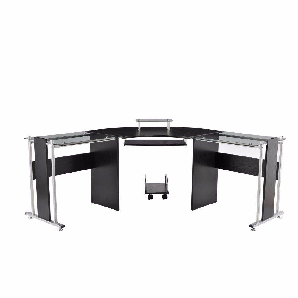 Office furniture 2 person glass office desk modern office table design