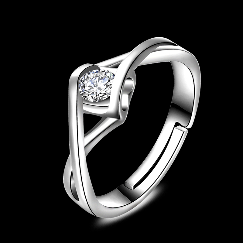China Jewelry Wholesale CZ Single Stone Ring Designs