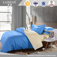 Customized hotel bed cover sheet set