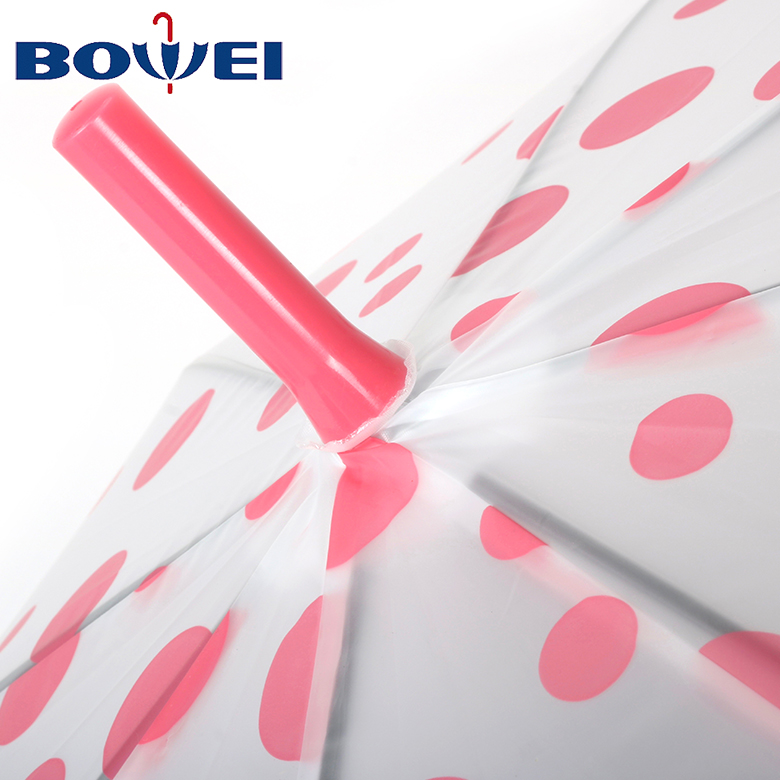 2020 high quality promotion automatic open windproof polka dot umbrella