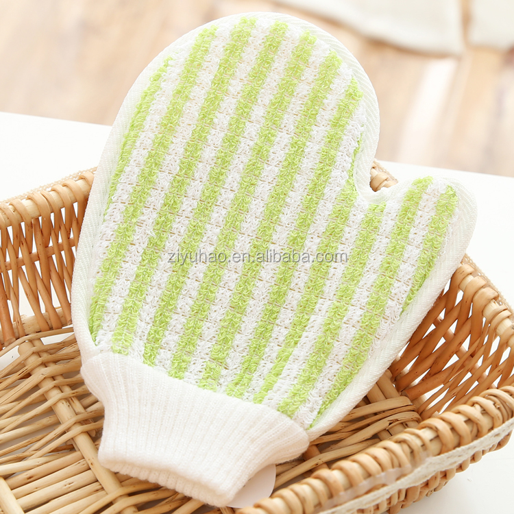 Newest Design Sisal Bath Glove Back Pat Bathing Glove Bath Scrubber