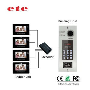 High quality Multi Apartment video door phone building audio / video intercom system for apartments
