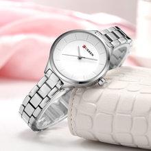 Часы Curren унисекс, мужские и женские часы, Роскошный топ бренд, водонепроницаемые часы с секундомером, женские кварцевые часы из нержавеющей ...(Китай)