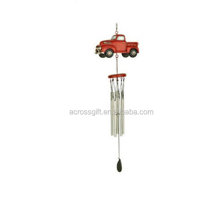 Personalized Handmade Color Garden Truck Wind Chime