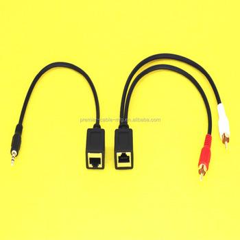 Stereo Extender Dc3 5mm To Rj45 Female Audio Balun Extension Cable - Buy  Stereo Extender Dc3 5mm To Rj45 Female Audio Balun Extension Cable,Male 3 5