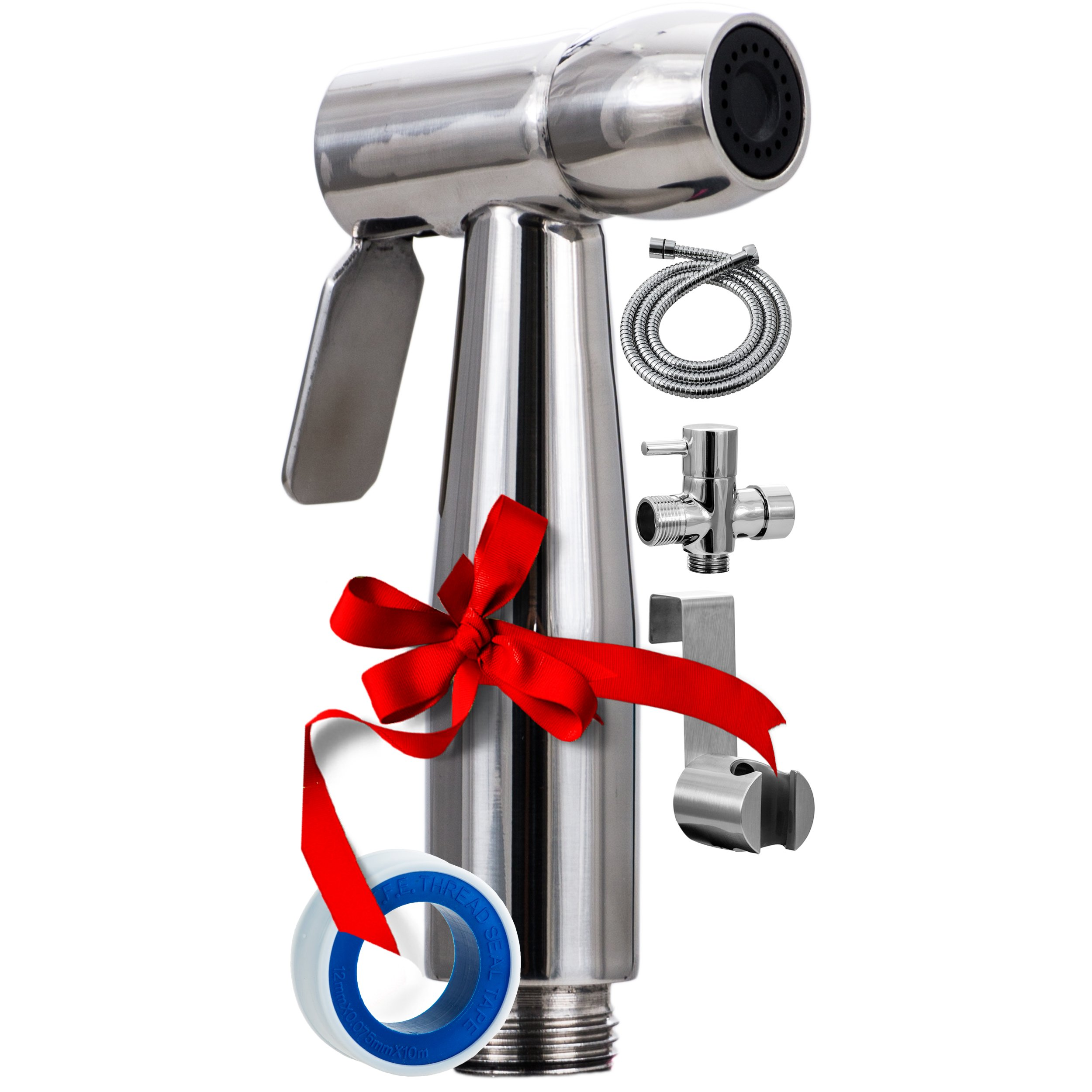 Buy Luxury Handheld Bidet Sprayer Cloth Diaper Baby Water Shattaf Personal Hygiene Shower Spray Attachment 59 Hose High Pressure No Leaks Stainless Steel Brushed Chrome Washer Set For Toilet Bidets In Cheap Price On Alibaba Com