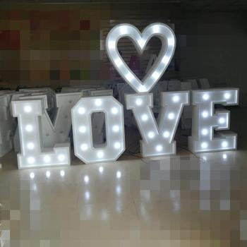 big decoration wedding love led metal vintage light bulb marquee letter lights