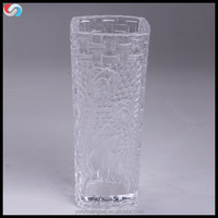 Wholesale Best Price Machine Made Tall Square Glass Flower Vase For Wedding Centerpieces And Home Decoration