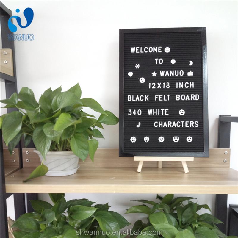 WanuoCraft 12x18 pulgadas escritorio marco negro Pino letra del ...