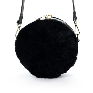 8230b7f93e Factory Price cow split leather lambswool round fur design your own leather  handbag