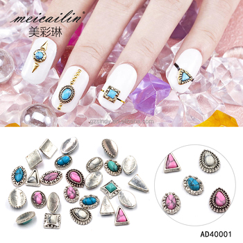 New Arrive Silver Alloy Nail Charms Jewelry On Nails Salon Supplies ...