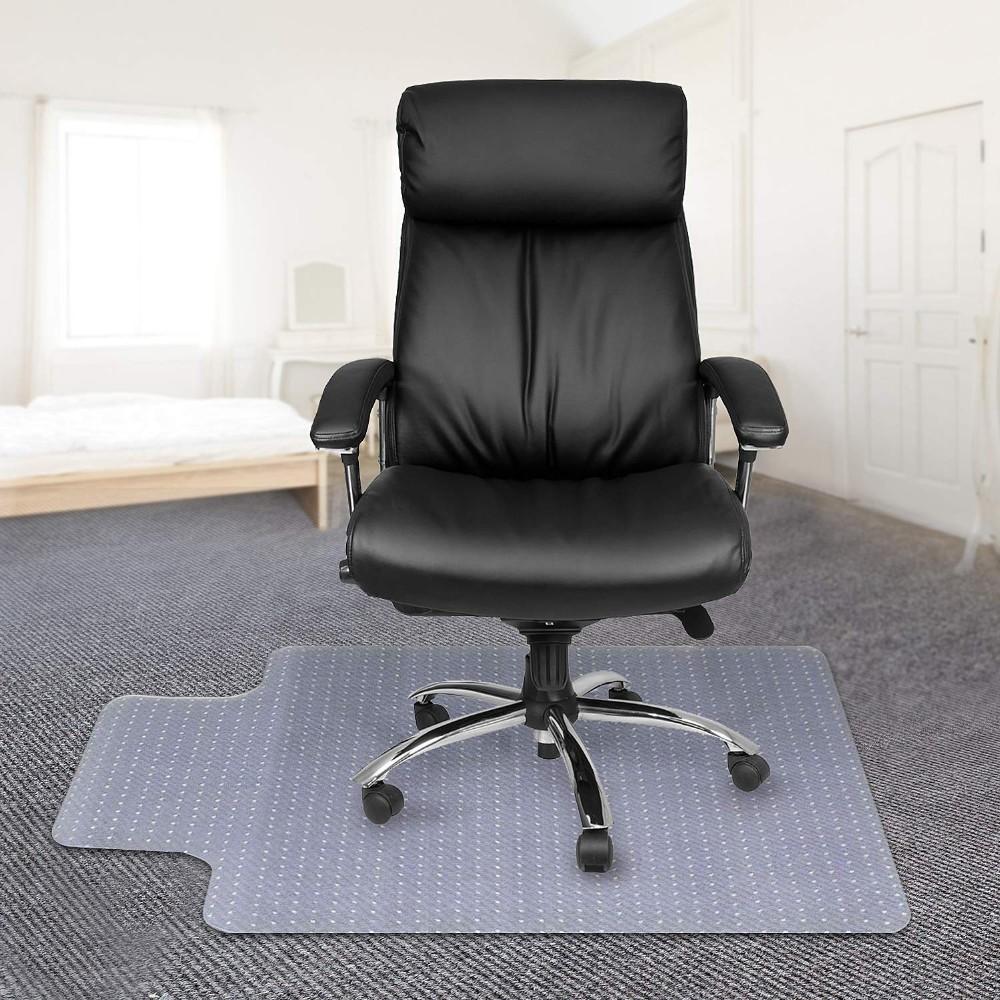 Home Office Computer Desk Chair Mat For Carpet Pvc For Wood Tile Floor 2mm W Lip Door Mats Floor Mats