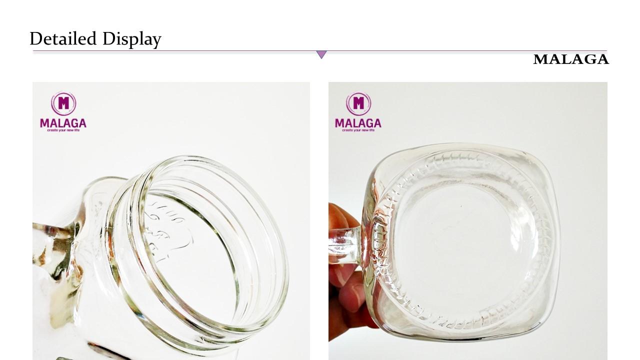 Geprägtes klares 16oz Glas-Einmachglas nach Maß