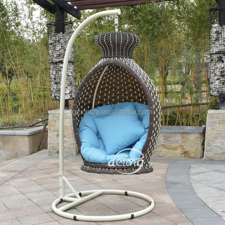 2016 dise o de lujo jard n colgante mecedora de mimbre en for Diseno de muebles de jardin al aire libre