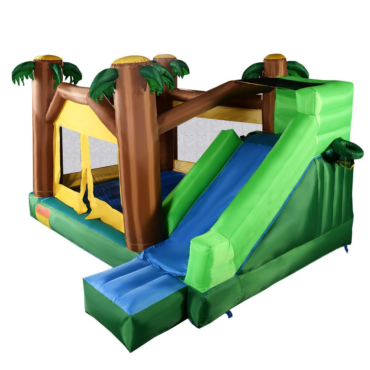 Get Quotations · 13FT Inflatable Jungle Bounce Slide House w/ 680W Blower