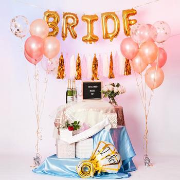 customized bachelorette party decorations bridal shower kit bride foil balloon latex balloons sash