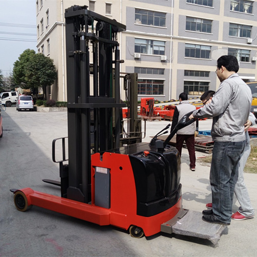 2 Ton Walk Behind Pallet Stacker Electric Forklift Price 1: 1.5t Automatic Walk Behind Pallet Reach Stacker Electric