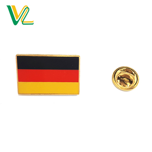 Customized hot sales Zinc Alloy Germany Country Flags for Souvenir soft enamel lapel pins metal craft