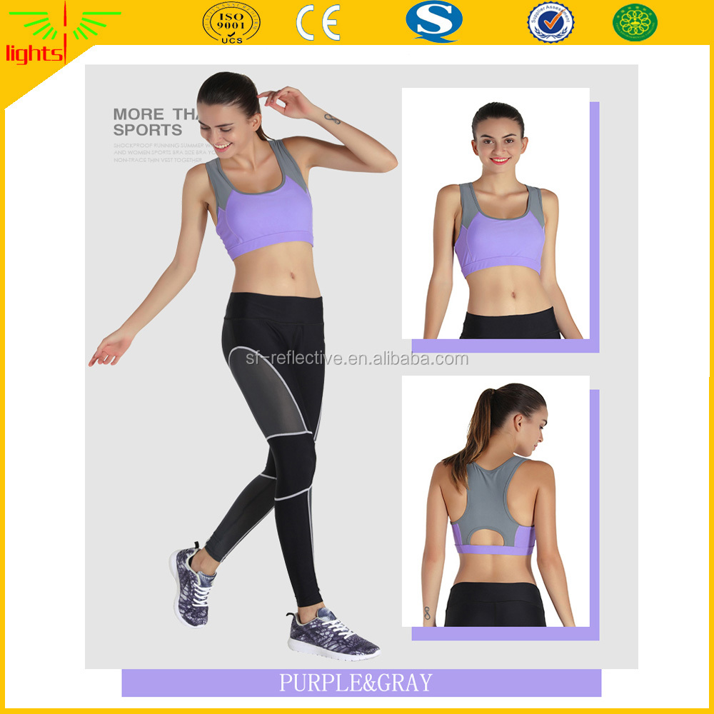 2017 latest woman yoga fitness clothing wholesale running bra crop top push up sweatshirt