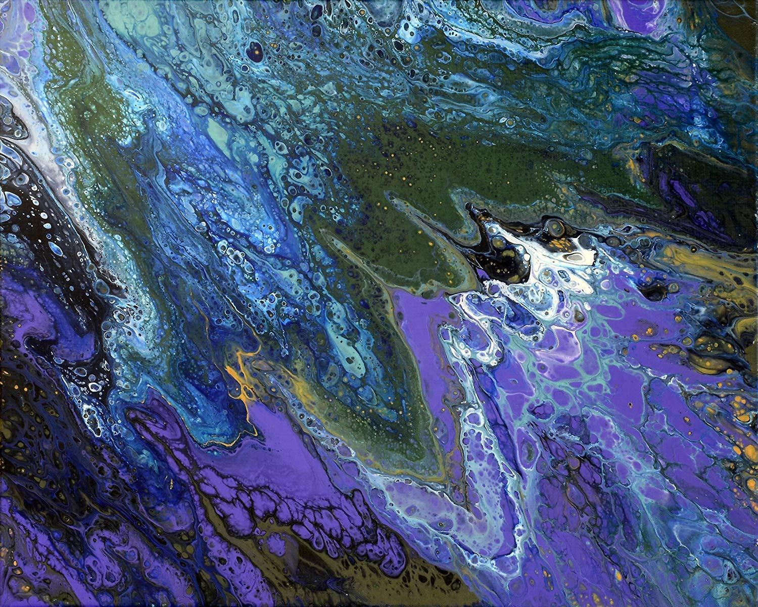 Summer deluge 1. Acrylic Painting on stretched canvas. No frame.