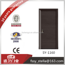Flush with modern design dark door for office