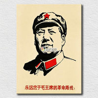 Famous people painting reproduction Chairman Mao's image printed canvas