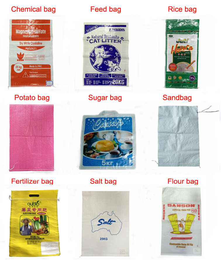 China manufacturers plain plastic PP woven farine de ble sacks wheat flour bag