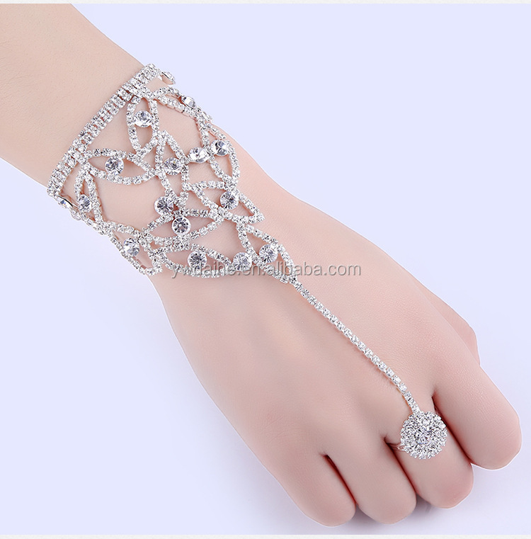 Unique Design Women Sexy Finger Top Grade exaggerate Indian Ring Bracelet