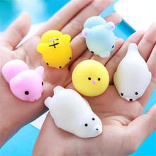 Factory Cheap Funny Cute Small Rubber Animal Squishy Sticky Decompression Vent Pressure Toys