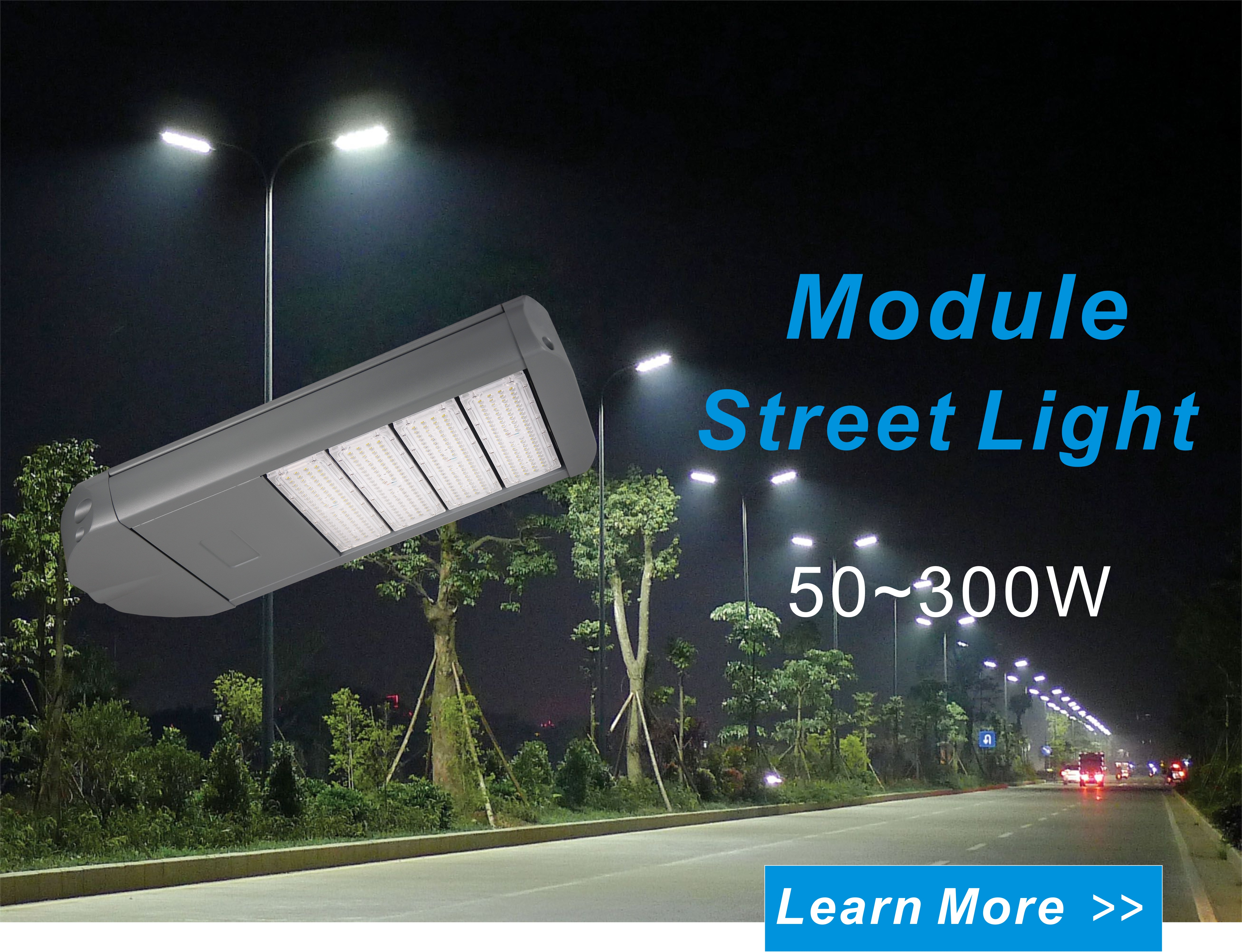 100w Ip66 Module Led Lights For Street Outdoor Professional