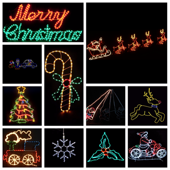outdoor window decoration led silhouettes christmas lights - Led Christmas Window Decorations