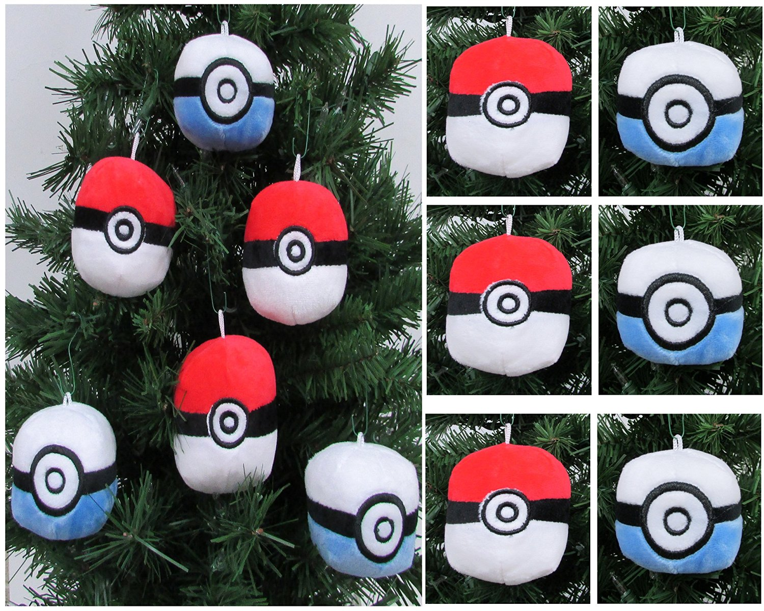 Buy Pokemon Catcher 6 Piece Poké Ball Plush Christmas Tree Ornament Set Featuring 3 Red Poké Balls And 3 Blue Poké Balls Averages 3 Round In Cheap Price On Alibaba Com