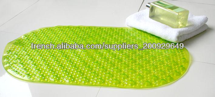pas cher clair tapis salle de bain vert tapis de salle de bain id de produit 500000719770 french. Black Bedroom Furniture Sets. Home Design Ideas