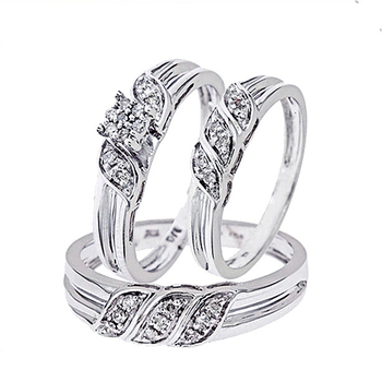 Factory Manufacturing wedding ring trio set