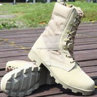 High quality nylon canvas military desert boots tactical combat boot