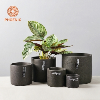 Eco-friendly Decoration Small Light Cement Indoor Flower Pot