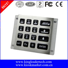 16 led backlit keys usb metal illuminated numeric keypad
