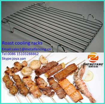 Outdoor used healthy grill pans sturdy food grade mesh roasting pans stainless steel cooling racks