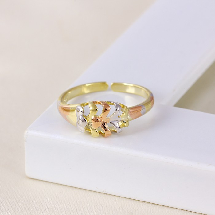11362 China wholesale xuping fashion jewelry multicolor gold ring designs Elegant Classical Hollow out ring