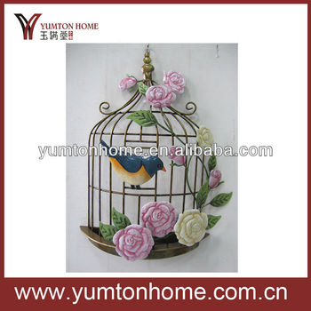 Metal Birdcage Wall Art - Buy Metal Wire Wall Art,Metal Flower Wall ...