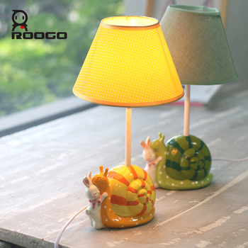ROOGO Resin At Home Designer Cartoon Animal Snails Discount Table Lamp