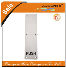 New launch exported quality stainless steel 304 push pull door sign guide plates