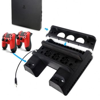 CD Storage Holder For Ps4 Charging Stand Vertical
