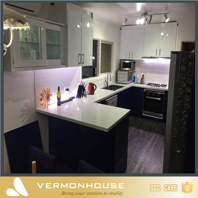 Vermonhouse Modern Black High Gloss Kitchen Cabinet Imported To Perth
