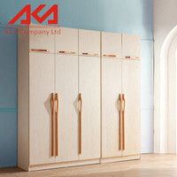 European style fashion modern solid wood bedroom wardrobes